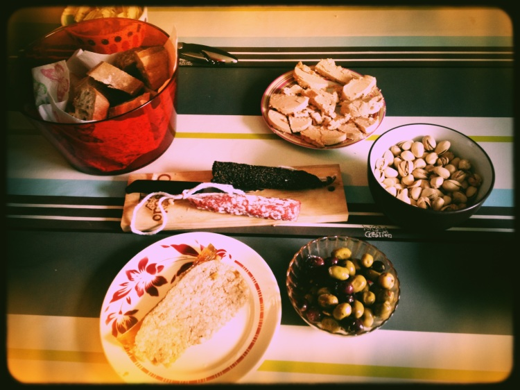 Fois Gras, Duck Pate, Salami and Bread