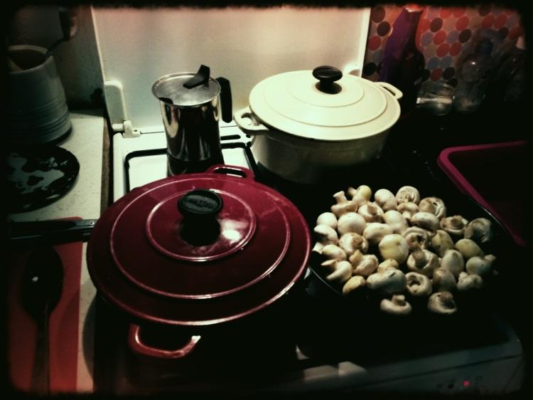 Coq Au Vin and Ratatouille in Chasseur Pots