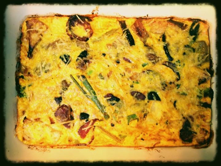 Turmeric Roast Vegetable and Edamame Frittata