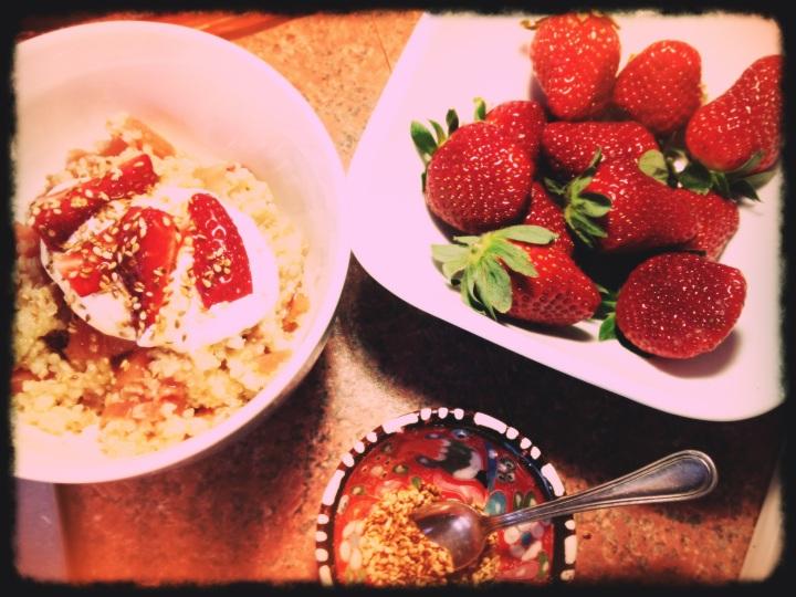 Quinoa, Rhubarb and Apple