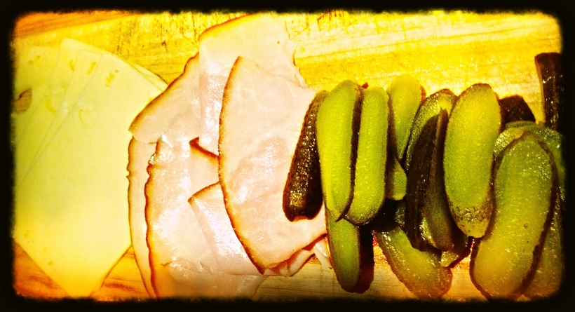 Cubano filler - Swiss Cheese, triple-smoked ham and dill pickles
